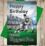 Rugby Geburtstagskarte–Gehen mit Angeln 's Biggest Fan