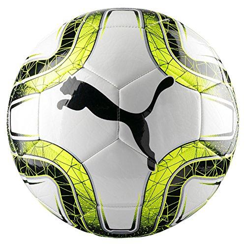 PUMA FINAL MS Mini Trainer Fußball, White-Lemon Tonic Black