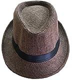 CLUB CUBANA Cappelli Fedora Per Uomo Donne Cappello Unisex Capello Floscio Stile Panama Estate Spiaggia Sole Jazz Marrone