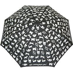 Los gatos planos paraguas plegable