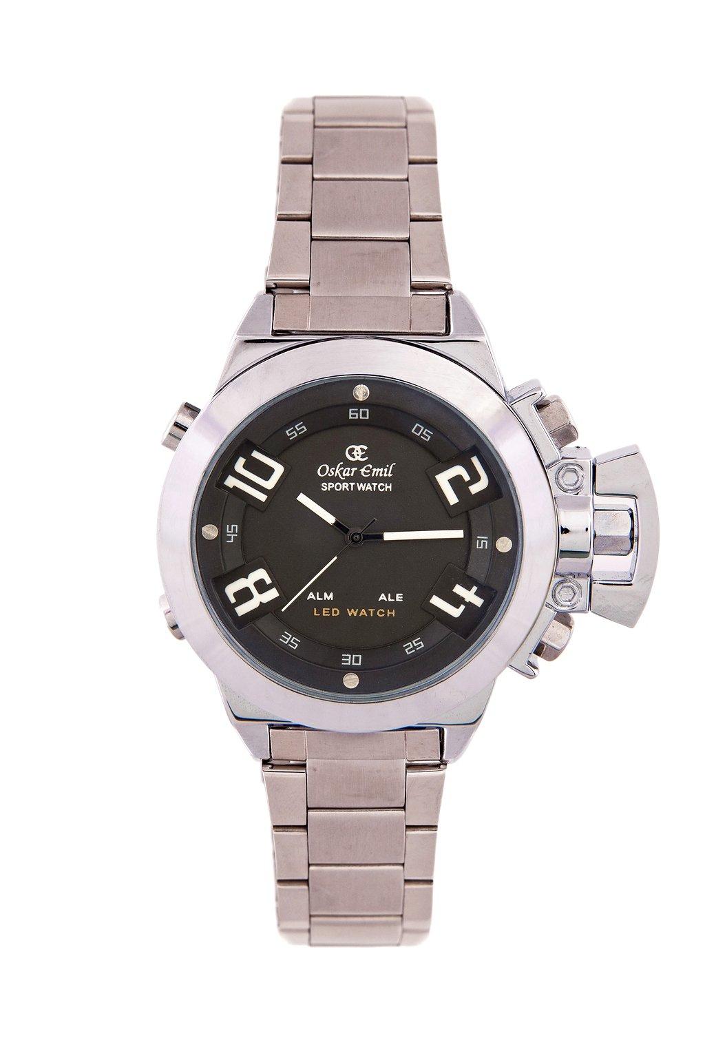 Oskar Emil Sigma Black – Reloj de Cuarzo para Hombre, Correa de Acero