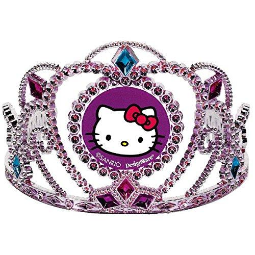 Amscan Liebenswürdig, Hello Kitty Rainbow® Party galvanisch Geburtstag Tiara Party tragbar Zubehör für (1Stück), Pink/Lila, 31/5,1cm X 41/5,1cm (Kitty Hello Tiara)