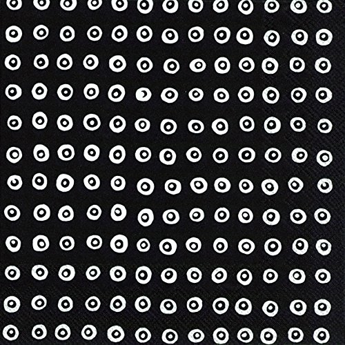 karakola-black-white-dot-circles-marimekko-luncheon-paper-table-napkins-20-in-a-pack-33cm-square