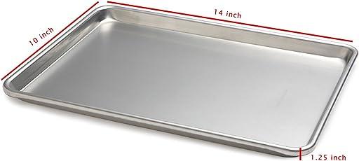 "Prime Enterprises Pans 10"" X 14"" inch Steel Alloy Baking Tray Pan Sheet"