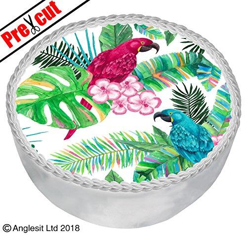 pical Print Kuchen B VII. Topper 17,8cm/18cm essbarem Reispapier/Wafer Papier Dessert Geburtstag Party Sommer Hawaii Dekorationen ()