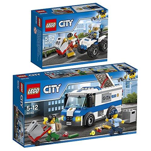 Preisvergleich Produktbild Lego CITY 2er Set 60142 60135 Gangsterjagd auf Quad + Geldtransporter