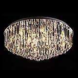 Runde Kristall Deckenleuchte für Wohnzimmer Schlafzimmer Restaurant LED Lampe Deckenleuchte Anhänger Leuchte Beleuchtung (ohne lampe) ( größe : Diameter 80cm )