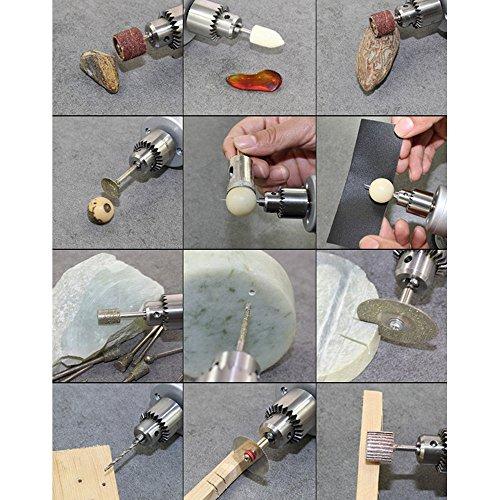 KKmoon Multi-Funktions Professionelle Elektrische Schleifen Set Regulierung der Geschwindigkeit Mini Drill Grinder Handwerkzeug zum Fräsen Polieren Bohren schneiden-Gravur-Kit - 7