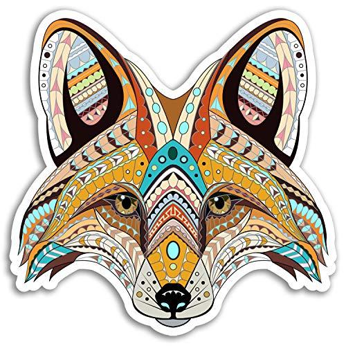 2 x 10 cm Stammes- Fox Vinyl Aufkleber - wildes Tier Tattoo-Aufkleber Laptop # 17666 (10 cm breit)