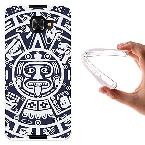 WoowCase Alcatel Idol 4S Hülle, Handyhülle Silikon für [ Alcatel Idol 4S ] Aztekisches Kalendar Handytasche Handy Cover Case Schutzhülle Flexible TPU - Transparent