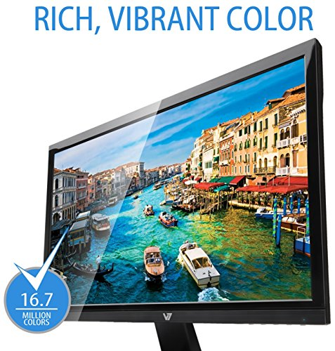 V7 L21500WDS 9K 55cm 215 inch Monitor DVI VGA total HD 5ms people power Label A EU UK plug black Monitors