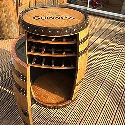 """Madera maciza de roble barril de whisky de Guinness """"Balmoral bebidas armario   vino rack"""