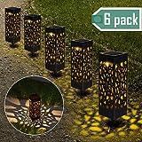 【6 Stück 】Solarleuchten Garten, Nasharia Solar Gartenleuchte IP65 Wasserdichte, Solarlampen für Garten Solarleuchte Dekoration Licht für Außen Fahrstraßen Sicherheits Lichter Garten Patio Rasen