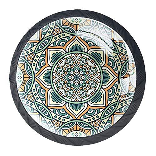 Patrón decorativo de mandala Perillas de los cajones efecto visual 3D de...