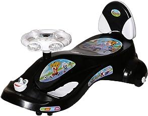 Dash Kids Deluxe Free Wheel Magic Swing Concept car Ride-on(Black)