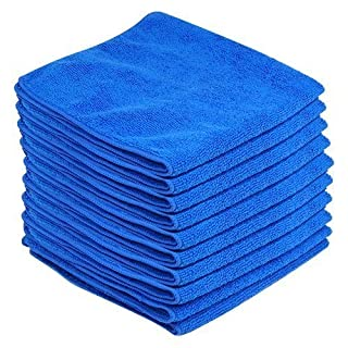 Accessotech 10 x Large Microfibre Cleaning Auto Car Detailing Soft Cloths Wash Towel Duster