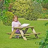 Table de pique-nique pour enfants en bois - Table et bancs intégrés de Gartenpirat®