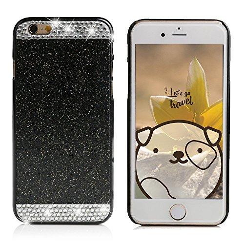 Samsung Galaxy S7Schutzhülle, elecfan® Smart B machen cristallo corona strass e perla stile diamante scintille gamba duro plastica copertura per i Kast cellulare fatti a mano di lancio/Case per Samsung Galaxy S7 nero