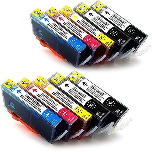 Preisvergleich Produktbild 10 Druckerpatronen kompatibel zu HP 364 / HP 364 XL mit Chip für PhotoSmart 5520 e-All-in-One 5522 5524 5525 DESKJET 3070A 3520 3522 OFFICEJET 4620 4622 HP Photosmart 5510 5514 5515 6510 6520 7510 7520 e-All-in-One
