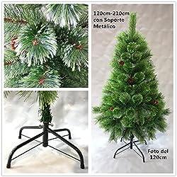 Árbol de Navidad artificial de pino verde Envio Gratis* C/Puntas abiertas,piñas y el soporte metálico 120cm-210cm (120CM 90 RAMAS)