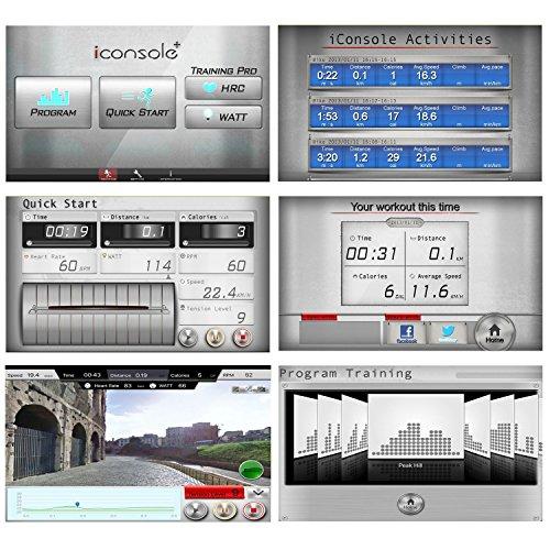 AsVIVA E2 Ellipsentrainer / Crosstrainer mit 20kg Schwungmasse, Magnetbremse und Multifunktionscomputer mit 6 Zoll Display, 16 Level, 12 Automatikprogramme und Pulsmessung - 5