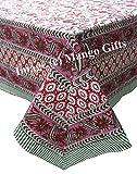 Hand Block Print indischen Tischdecke Bezug 100% Baumwolle Floral 150* 220cm