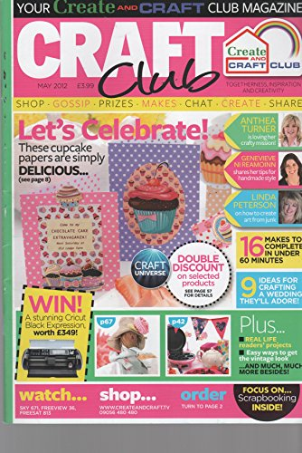 CARDS CLUB MAY 2012 MAGAZINE ISSUE CREAT AND CRAFT CLUB CAKE BUNS IDEAS FOR WEDDINGS