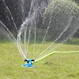 Kadaon Lawn Sprinkler Automatic Garden Water Sprinklers Lawn Irrigation System 3600 Square Feet Coverage Rotation 360