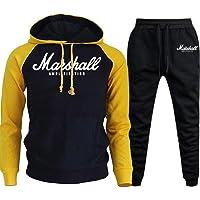 FHKGCD Pullover Sets Men Tracksuits Hoodies Pants Mens Sportswear Pant Hoody Sweatshirt Suits Jogging Sweatpant 2 PCS