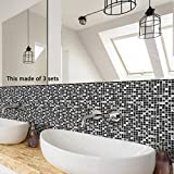 Indexp Marble Texture Tile Sticker, 10 Packs Self Adhesive DIY Art Kitchen Bathroom Decor Floor Wall Decal (Style F, 20x20cm)