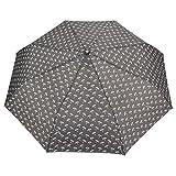 FabSeasons Unisex Grey Printed, 3 fold fancy Automatic Umbrella for Rains, Summer & All Year Use