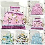 Kinder Bettwäsche, Babybettwäsche 100x135 cm + 40x60 cm 100% Microfaser für Jungen und Mädchen in verschiedenen Designs, Lola Pink