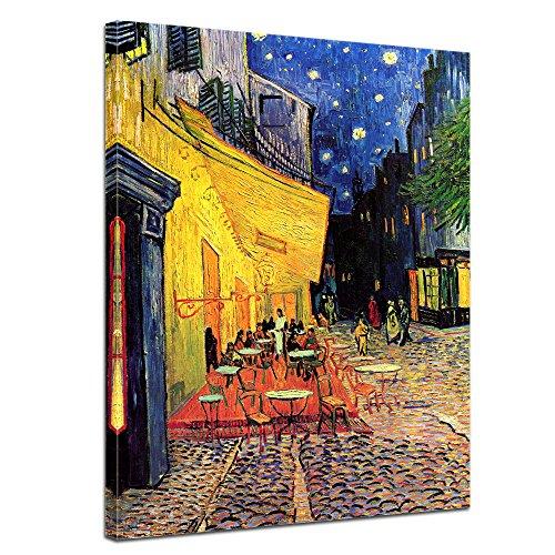 Bilderdepot24 Kunstdruck - Alte Meister - Vincent Van Gogh - Caféterrasse am Abend - 50x70cm Einteilig - Leinwandbilder - Bilder als Leinwanddruck - Bild auf Leinwand - Wandbild