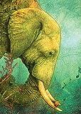Tree Free Grußkarte hören Geburtstag Karten, 2Karten-Set, Elefant und Songbird, (Bunte 14140)