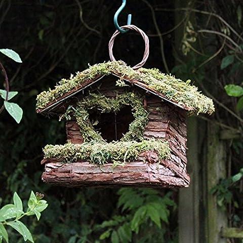 Bush Holz Liebe Herz Wild Vogel Garten Nistkasten Rustikale Holz