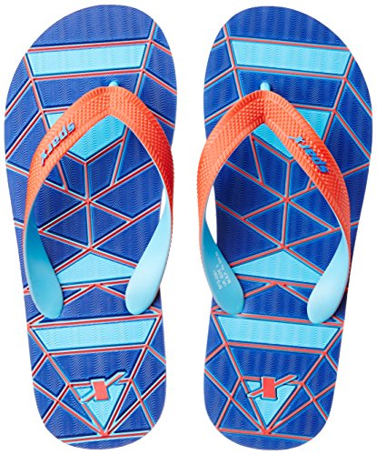 Sparx Men's Blue and Red Flip Flops Thong Sandals - 10 UK/India (44.67 EU)(SF2061GBLRD)  available at amazon for Rs.227