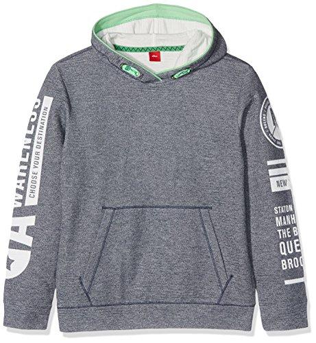 s.Oliver Jungen Sweatshirt 61.707.41.3180, Blau (Blue Melange 57W8), 164 (Herstellergröße: L)