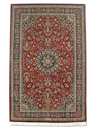 Handgeknüpfter Kashan Teppich, Rot, Wolle / Seide (Höhepunkte), 110 X 172 cm