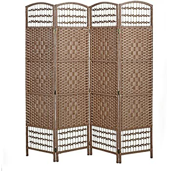 Solid Weave Hand Made Wicker Room Divider YX149-1 by panana-Choice of Size /& Colour