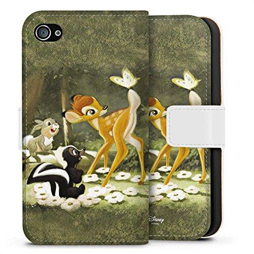Apple iPhone 7 Plus Tasche Hülle Flip Case Disney Bambi Merchandise Fanartikel Sideflip Tasche weiß