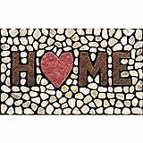 Home Stones zerbino, home Love you, tessuto, Multi, 18x30