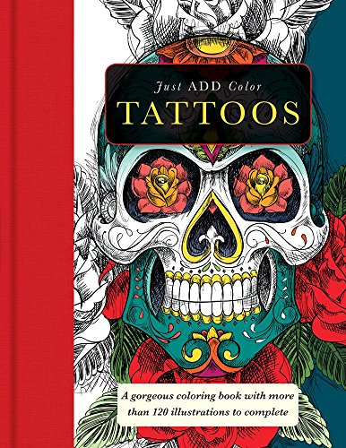 Tattoos: a gorgeous coloring book with more than 120 illustrations to complete