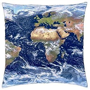 Mapa del mundo – Funda de cojín (18