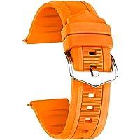BINLUN Cinturino per Smart Watch in Silicone,Colori (Bianco/Rosso/Nero/Blu/Arancione) Dimensioni (12mm/14mm/16mm/18mm…
