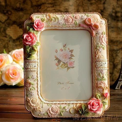 XBR Regalo de cumpleaños _ Korean Garden Creative lindo Princesa Rose Foto de bodas cumpleaños...