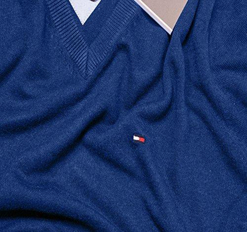 Tommy Hilfiger Vneck Pullover Für Herren Classic Blue