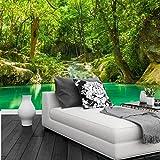 Yosot Custom 3D Wandbilder Tropen Wälder Wasserfall Bäume Jungle Natur Tapeten Wohnzimmer Sofa Tv Wand Schlafzimmer-300Cmx210Cm