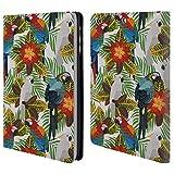 Head Case Designs Offizielle Julia Badeeva Vögel 2 Modelli Tropicali 2 Brieftasche Handyhülle aus Leder für iPad Mini 1 / Mini 2 / Mini 3