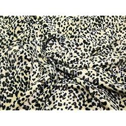 147,32 cm Diseño de piel de leopardo poliéster extra anchos para hombre Velboa tela Baby leopardo - por metro