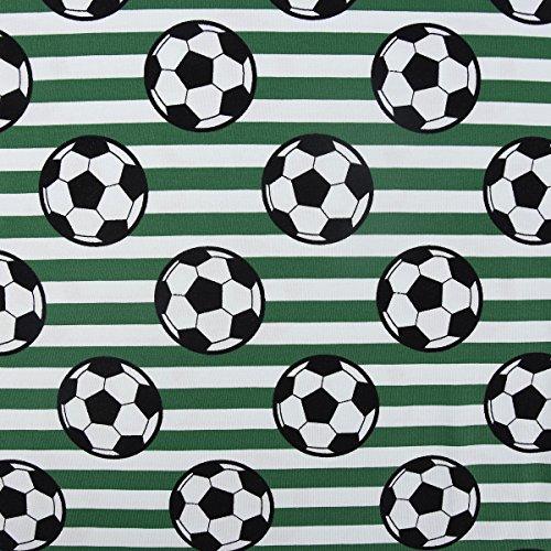 Baumwolljersey Jerseystoff Fußball Streifen grün weiß 1,50m Breite